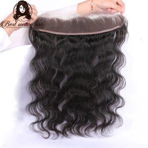 lace frontal 13X6 de cheveux ondulé, body wave