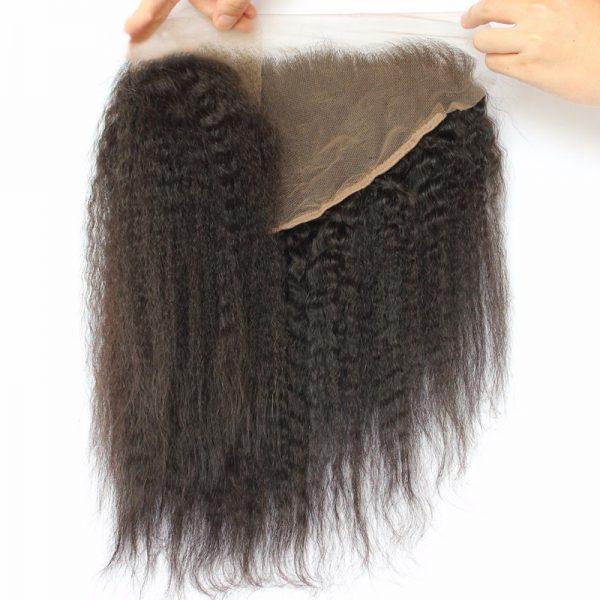 Lace Frontal 13X6 de Cheveux Afro Kinky