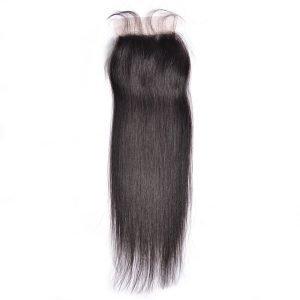 closure 4X4 de cheveux droit et raides