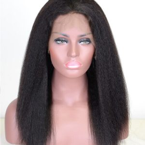 lace frontal 360 de cheveux Afro Kinky Droit