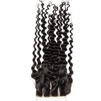 closure-4X4- de-cheveux -Deep Curly