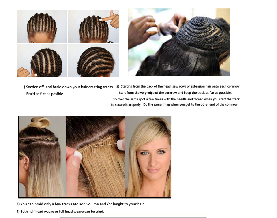 How-To-Install-Hair-Weave-Weft