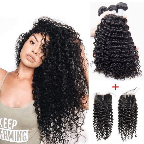 3-Lot-Rallonges-Tissage-Cheveux-Humains-Très-Bouclée