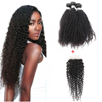 Lot-3-Tissage-Afro-Frisée-et-Top-Lace-Closure-Canada