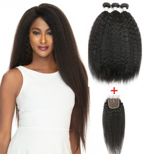 Lot-3-Tissage-Afro-Droit-+Top-Lace-Closure-Canada