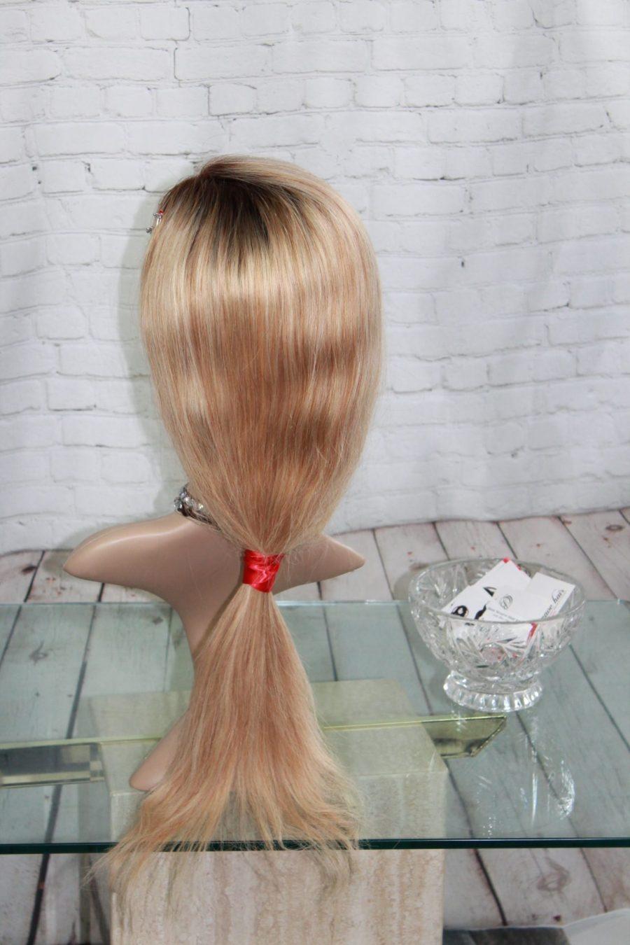 Perruque-Longue-Blonde-Ombrée-Cheveux-Naturelle-18po-Montreal-Canada